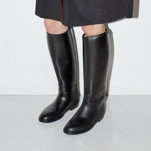 Aigle Start Slush Black Rubber Rain Riding Boots